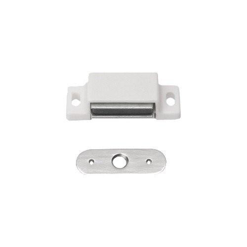 8 Stück Magnetschnäpper Schrankschnäpper Möbelschnäpper weiss mit Metall Gegenplatte,5-6 kg Haltekra