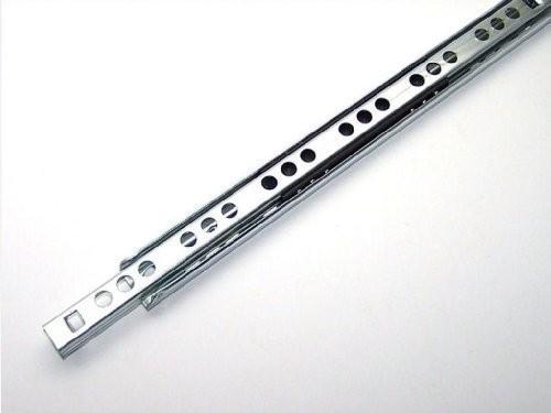 2 Schubladenschienen Teilauszug Rollenauszug Teleskopschiene Kugelführung L 430mm Nut 17x10mm