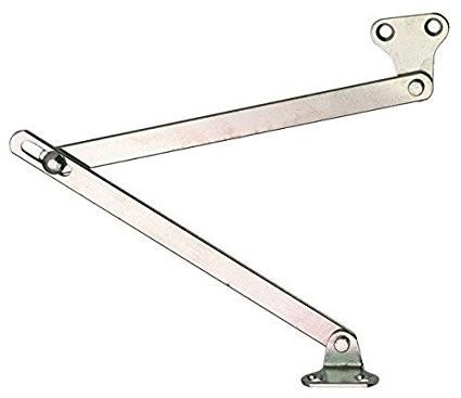 2 Stück Klappenhalter Bremsklappenhalter Klappenbeschlag mit Schlitzführung im Gelenk   für Klappen