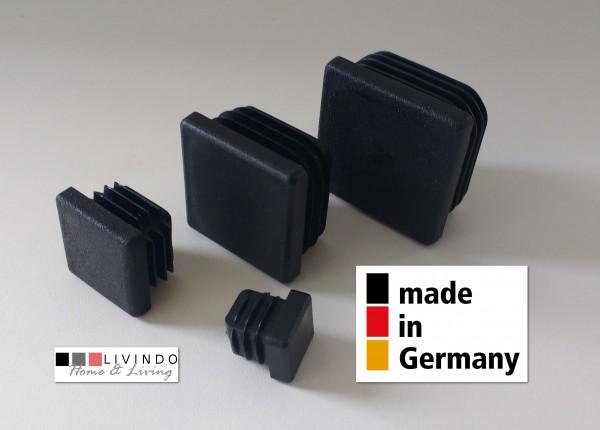 4 Stück Lamellenstopfen Schwarz 28 x 28 mm Aussen - livindo.pro©