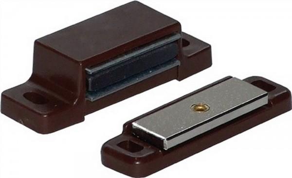 Premium Qualität - Set mit 4 Stück braune Magnetschnäpper,Aufschraubschnäpper,Tür Halterungen, braun