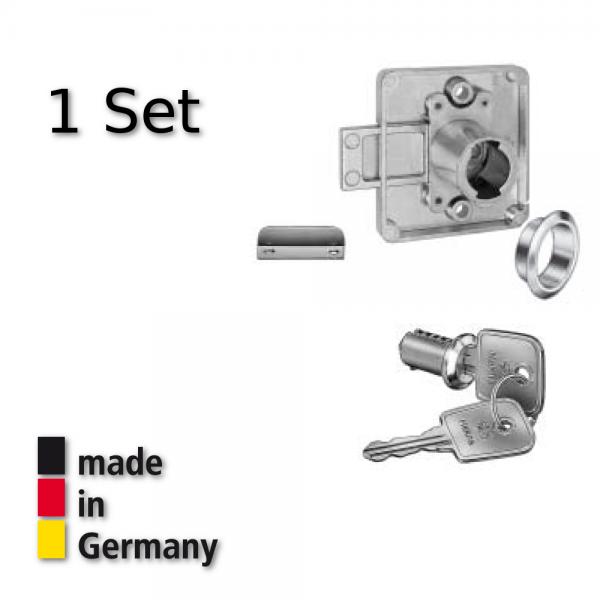 Hekna Aufschraubschloß Hinterlegschloß Möbelschloß Set Dorn 20 mm Typ 1275 rechts