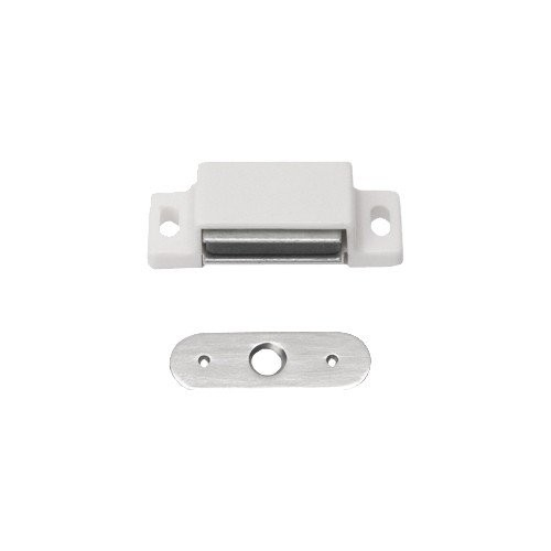 10 Stück Magnetschnäpper Schrankschnäpper Möbelschnäpper weiss mit Metall Gegenplatte,3-4 kg Haltekr